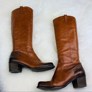 Jessica Simpson Brown Leather Knee High Boots 9.5